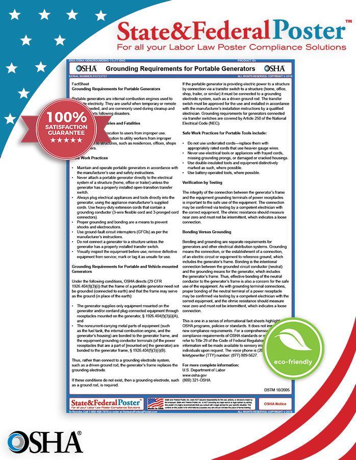 OSHA Grounding Requirements for Portable Generators