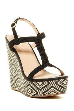 Rosa Braided Platform Wedge Sandal