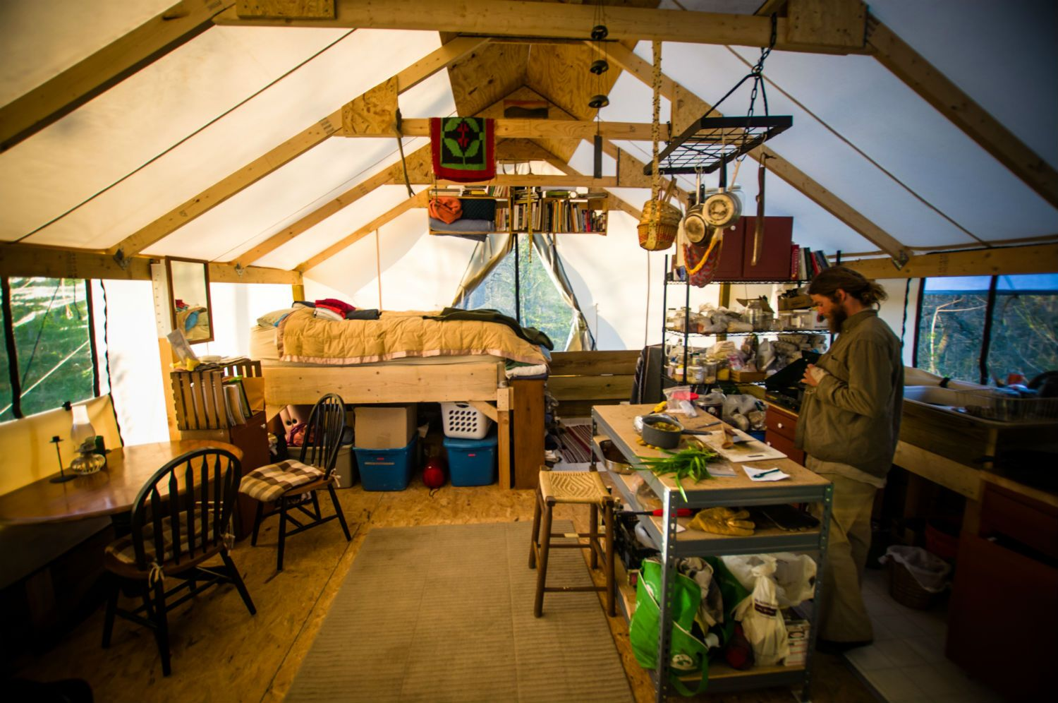 Off Grid Tent Style Living & Living Simply | witf.org | Outdoor Kitchen | Pinterest | Tents ...