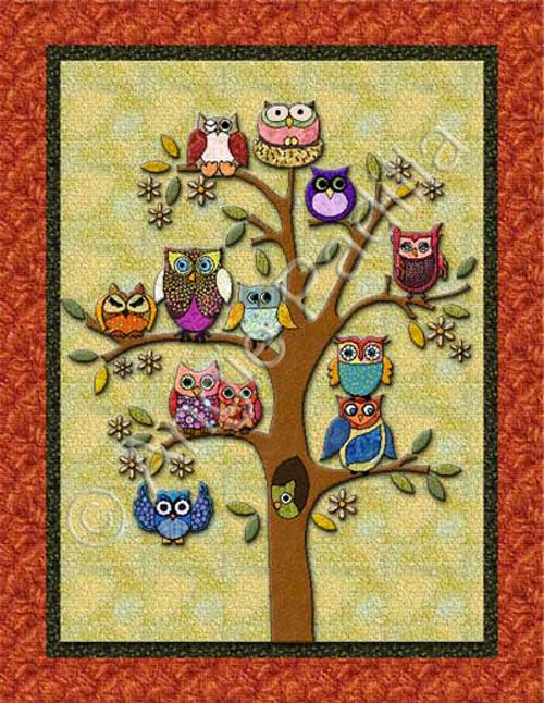 Owl Quilt Pattern : quilt, pattern, Life's, Quilt, Pattern, Pattern,, Quilt,, Applique, Quilts