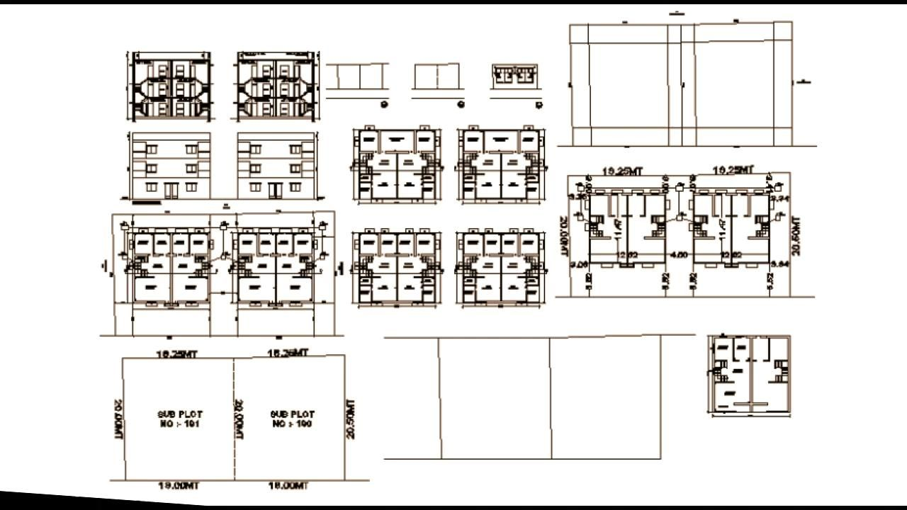 Autocad Apartment Drawing And Designs
