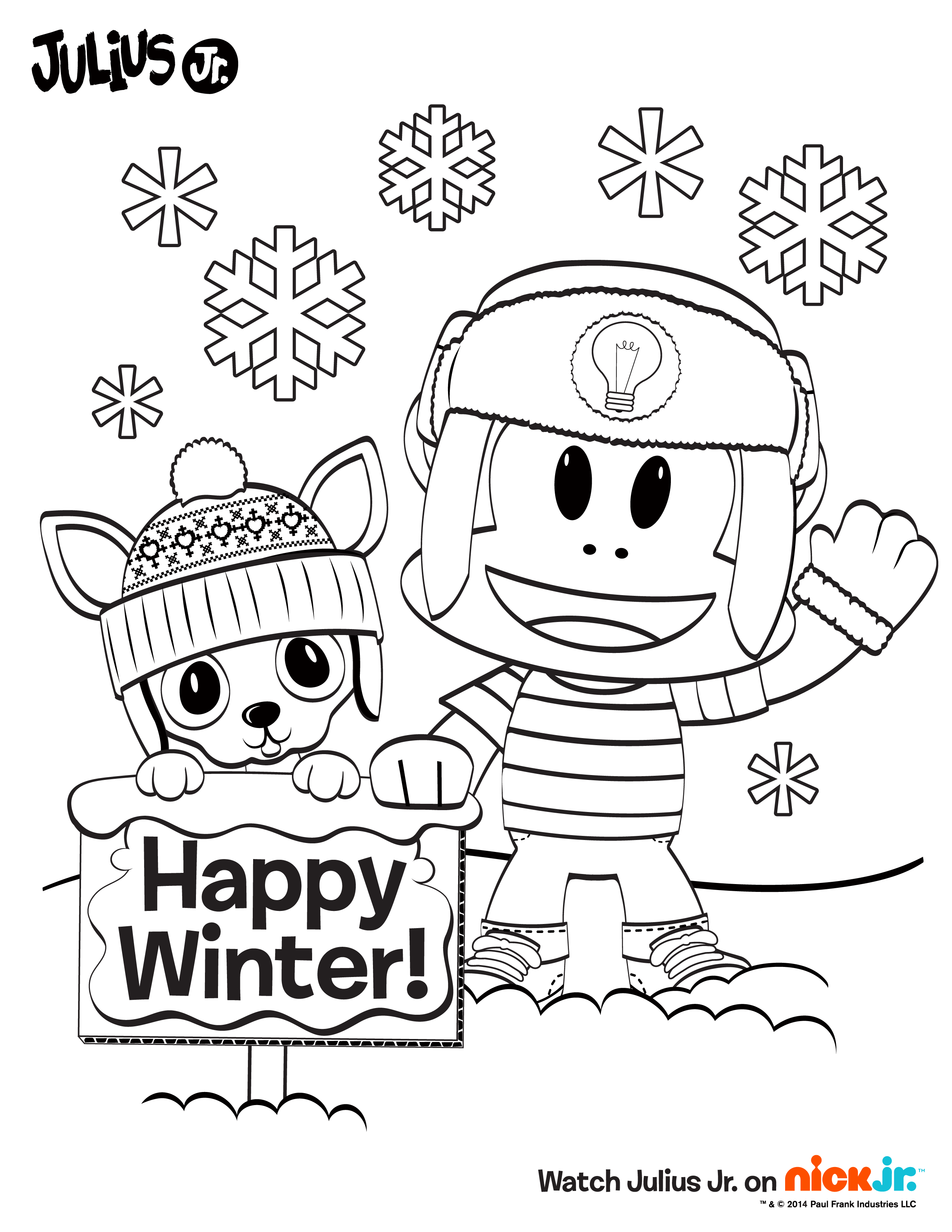 Happy Winter Color In This Fun Sheet To Celebrate The Season Juliusjr Kids Toys Action Figures Toys Online