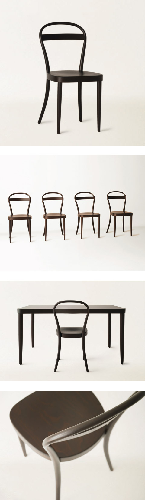 Japanese brand Muji and German furniture manufacturers Thonet have collaborated, designed by James Irvine (R I P)