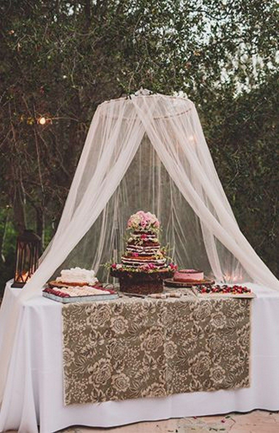 99 sweet ideas for romantic backyard outdoor weddings 73