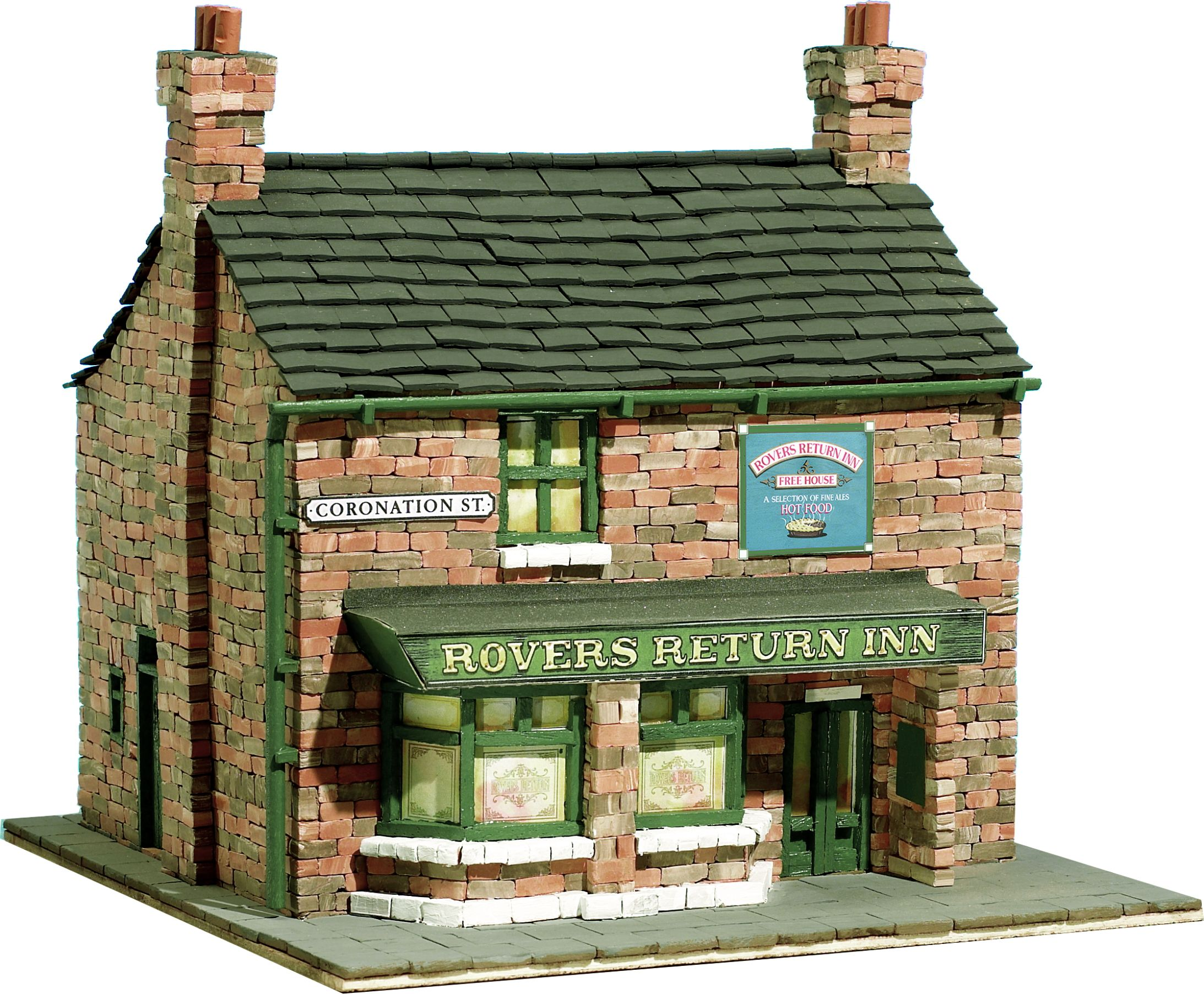Domus kits rovers return inn from coronation street brick for Mud brick kit homes