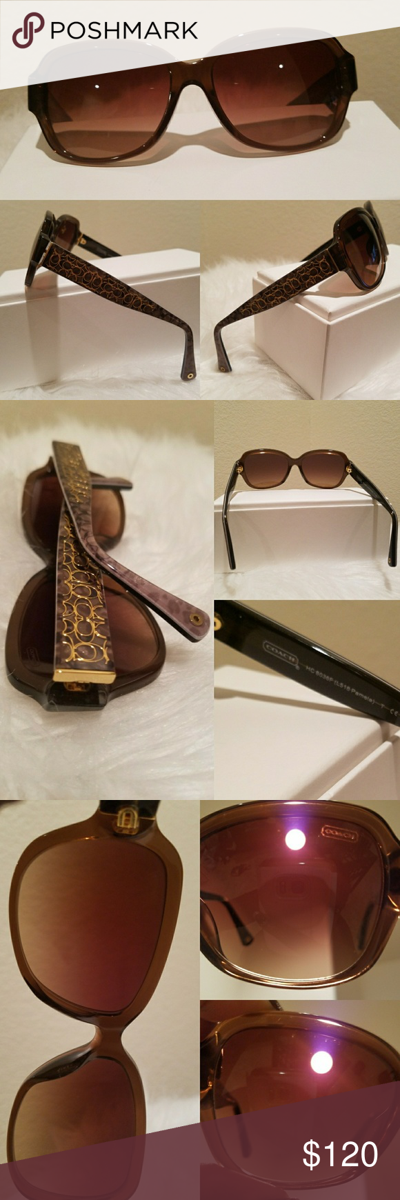 fa801daa01bf4 Gently Preowned Coach Pamela Sunglasses   Just reduced.FIRM PRICE. No  offers