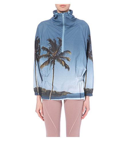 2714d07d3087 ADIDAS BY STELLA MCCARTNEY Palm tree-print lightweight jacket (Shade blue