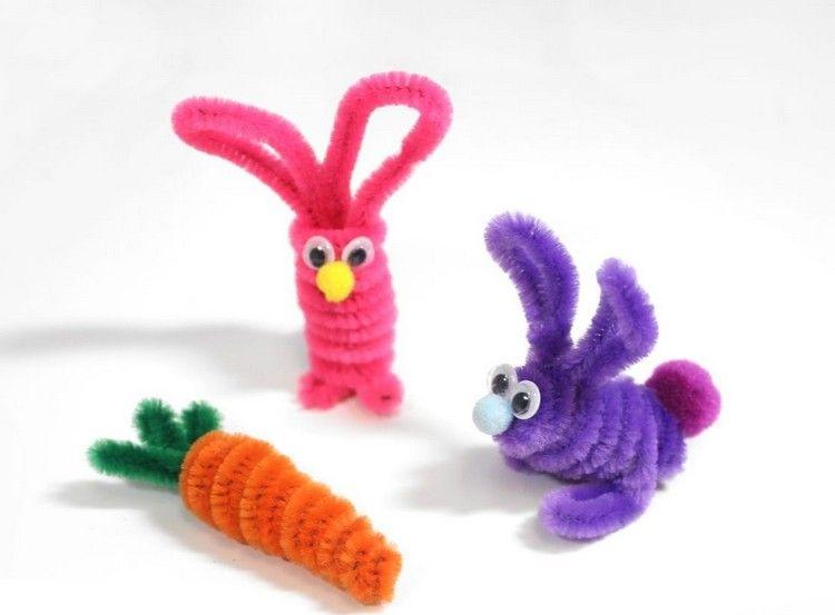 Pfeifenreiniger Figuren Zu Ostern Basteln Pipe Cleaners