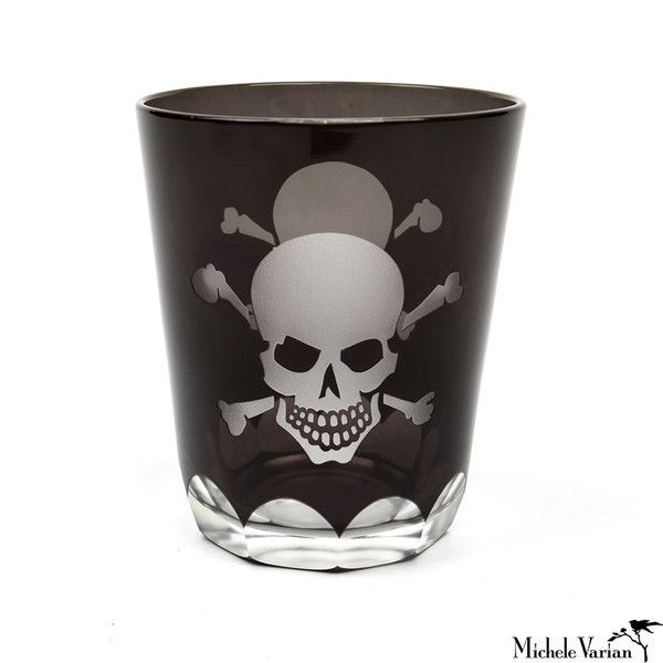 Etched Skull Glasses Set of 6 $174.00 [4in. x 3.5in]