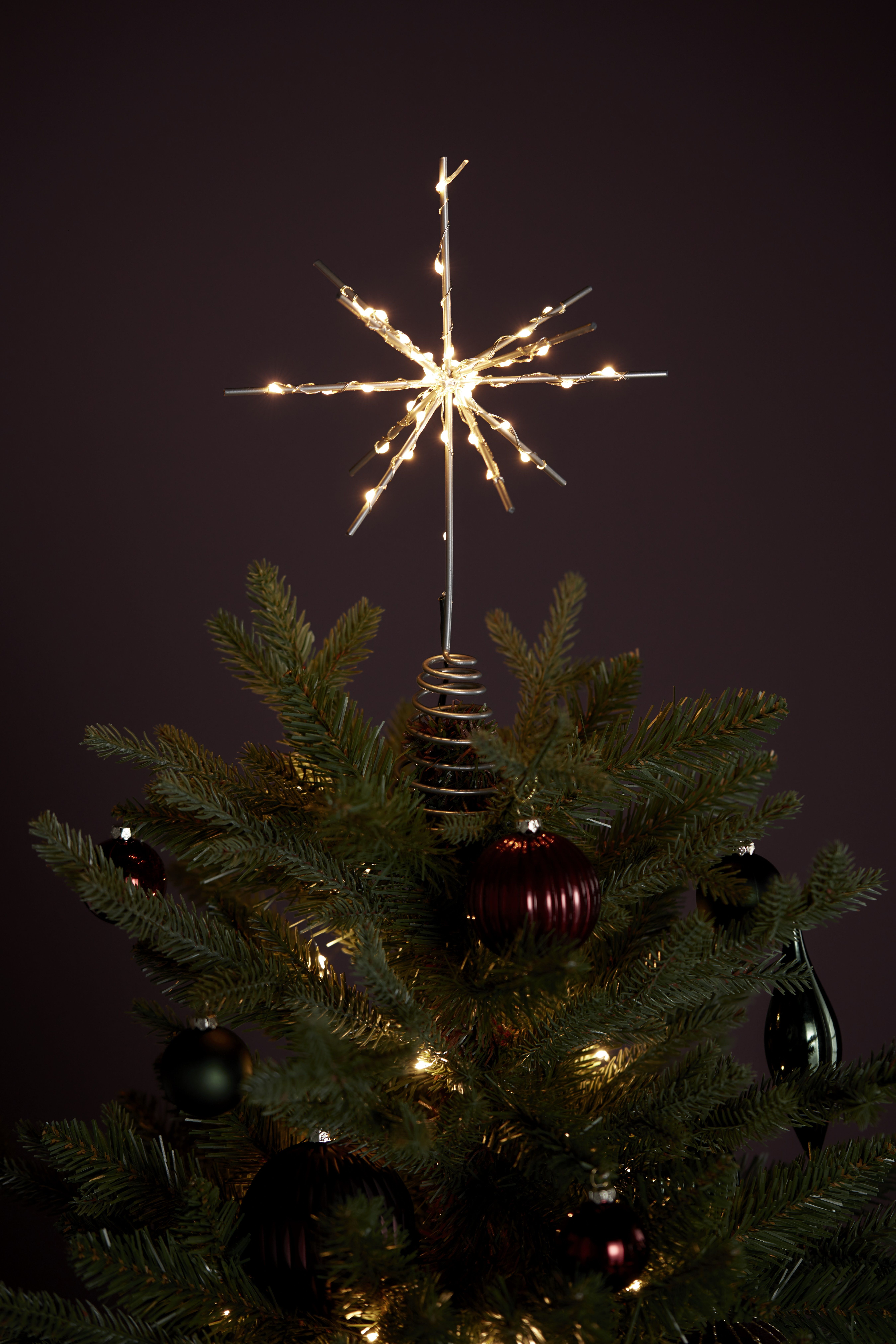 Battery Operated Starburst Tree Topper Classic Christmas Tree Toppers Christmas