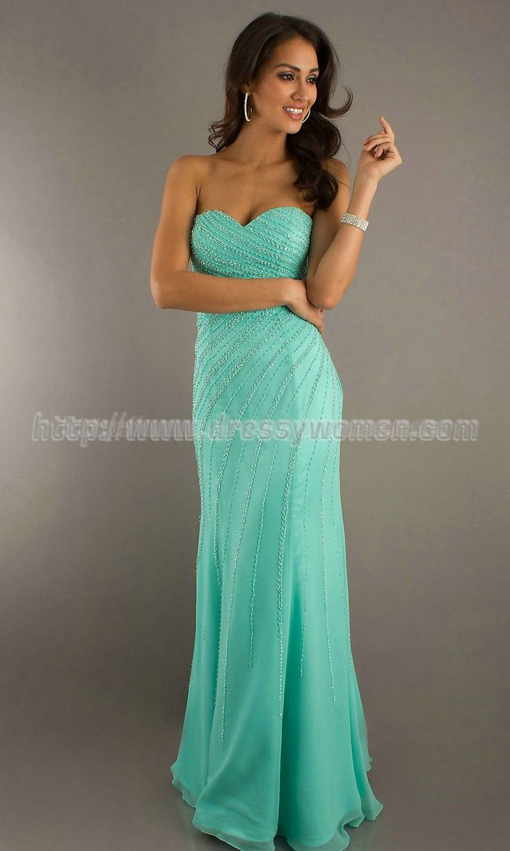 Buy Dramatic Sheath/Column Sweetheart Satin Prom Dresses SAPD ...