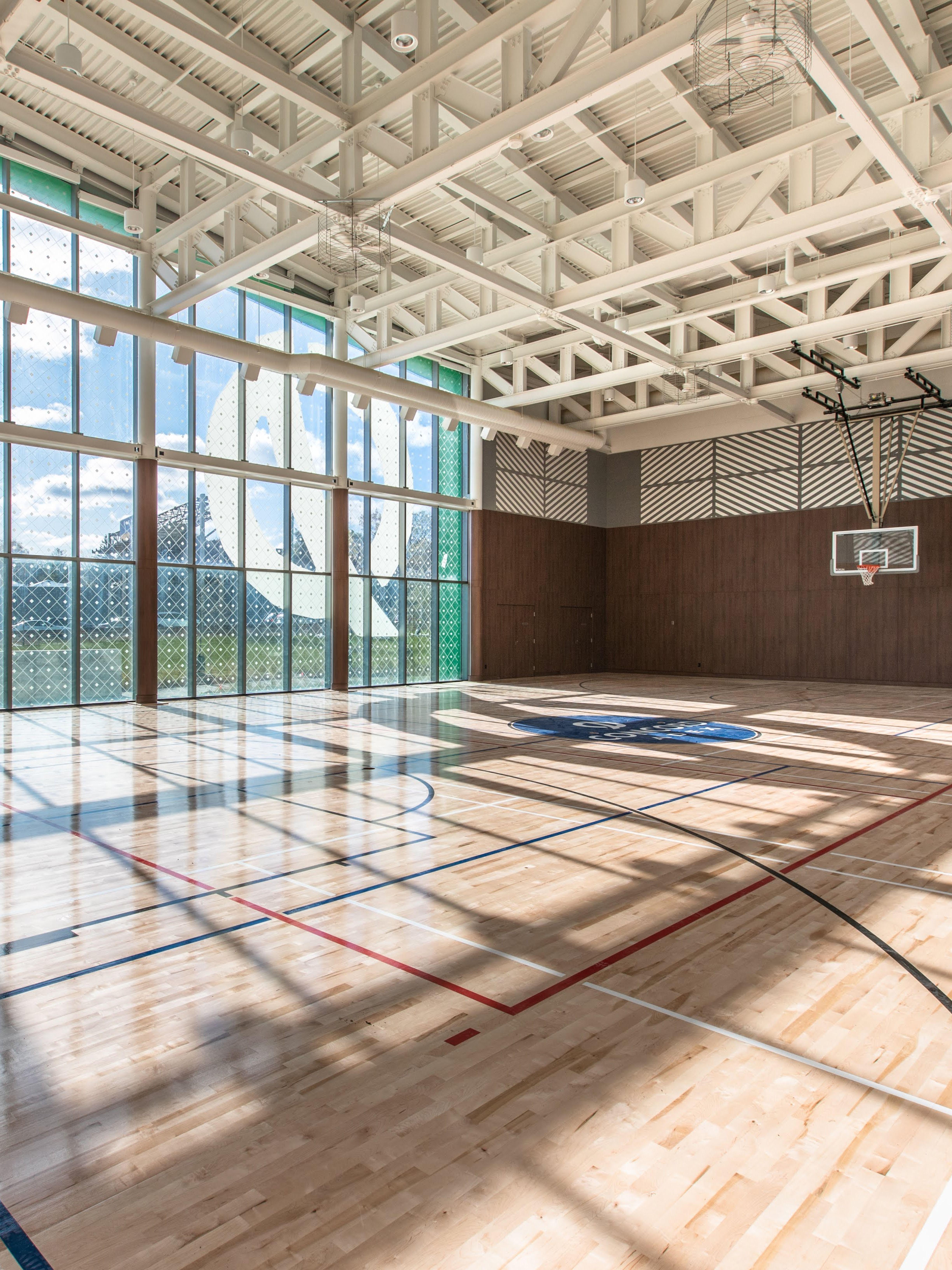Basketball Court Amenity Space King S Landing Toronto Lobby Design Design Space Interiors