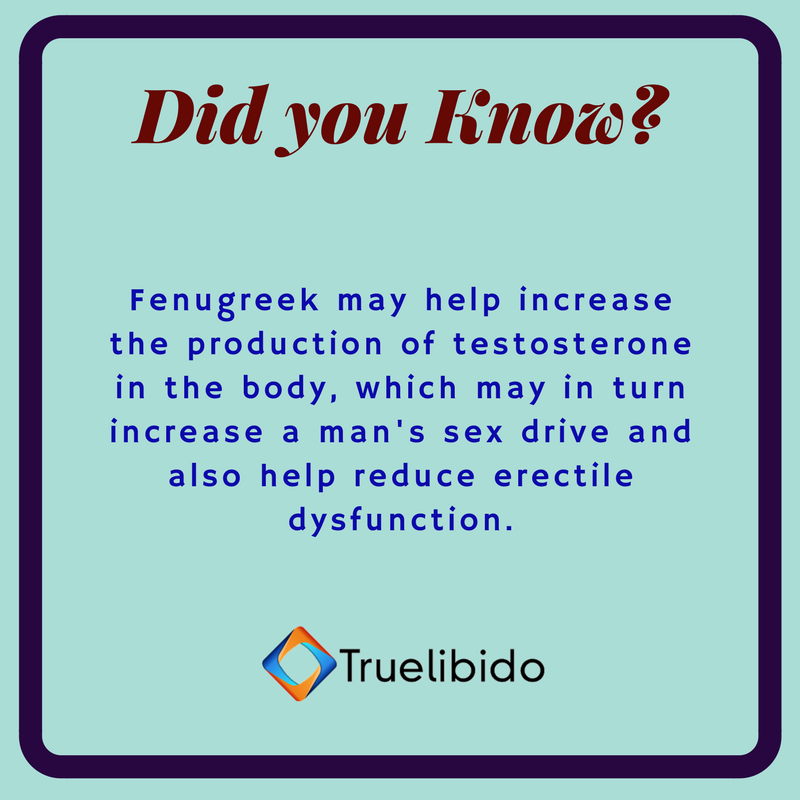 Fenugreek sex testosterone