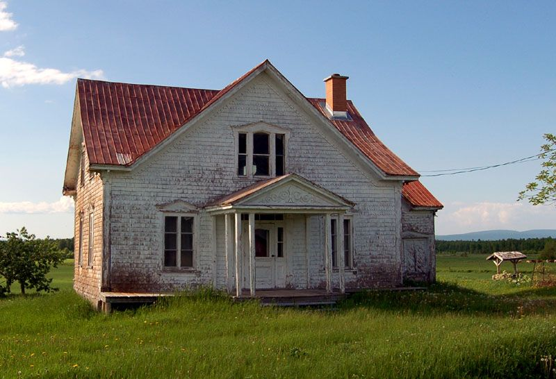 Abandoned house in the fields.