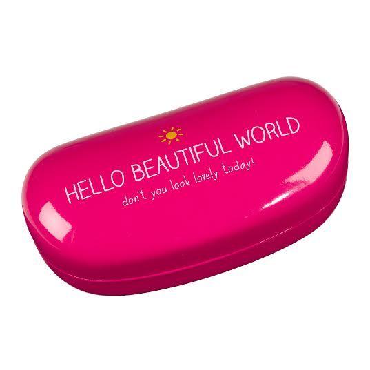 Caixas de Óculos : Caixa para óculos Hello Beautiful World