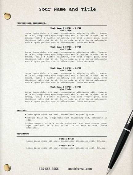 Movie Script resume template - edit easily in Word - https - resumes that sell you