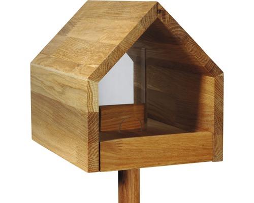 Vogelfutterhaus Mit Satteldach 28x20x22 Cm Eiche Bei Hornbach Kaufen In 2020 Vogelfutterhaus Vogelhaus Mit Stander Vogelhaus