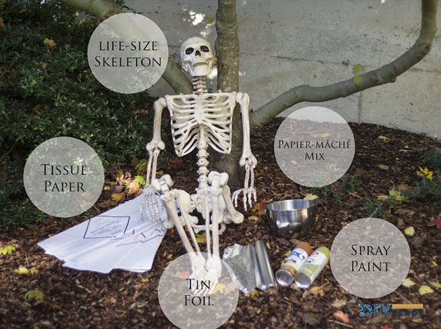 How to Make a Decayed Corpse Prop for Halloween Halloween crafts