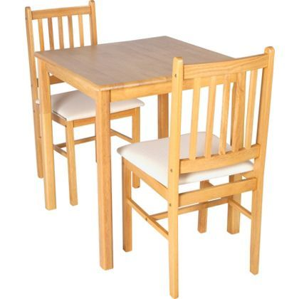 Henley Solid Wood Dining Table With 2 Solid Wood Chairs At