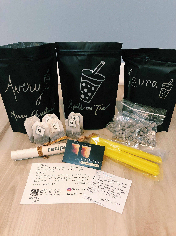 Diy bubble tea kit milk tea by spilltheteastore on etsy