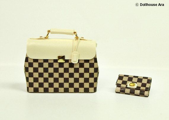 LV Ooak Designer Handtaschen Tasche Handtasche mit von DollhouseAra, $29.00
