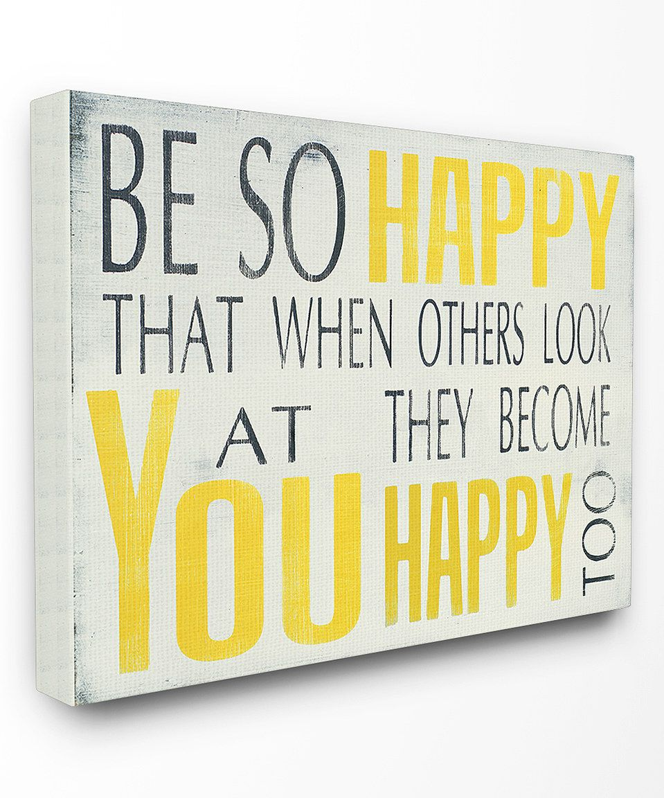 Loving this \'Be So Happy\' Typography Wall Art on #zulily ...