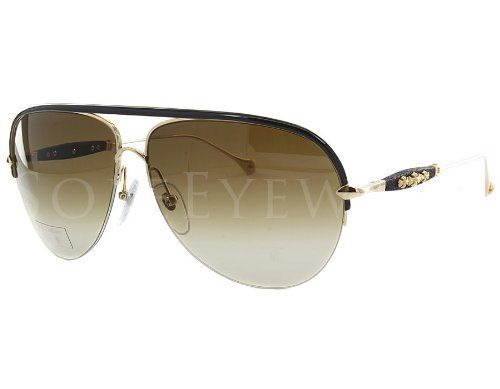 a722ca50939 Chrome Hearts Spanked Dark Brown Gold Destroyer LTHR Sunglasses Chrome  Hearts http   www