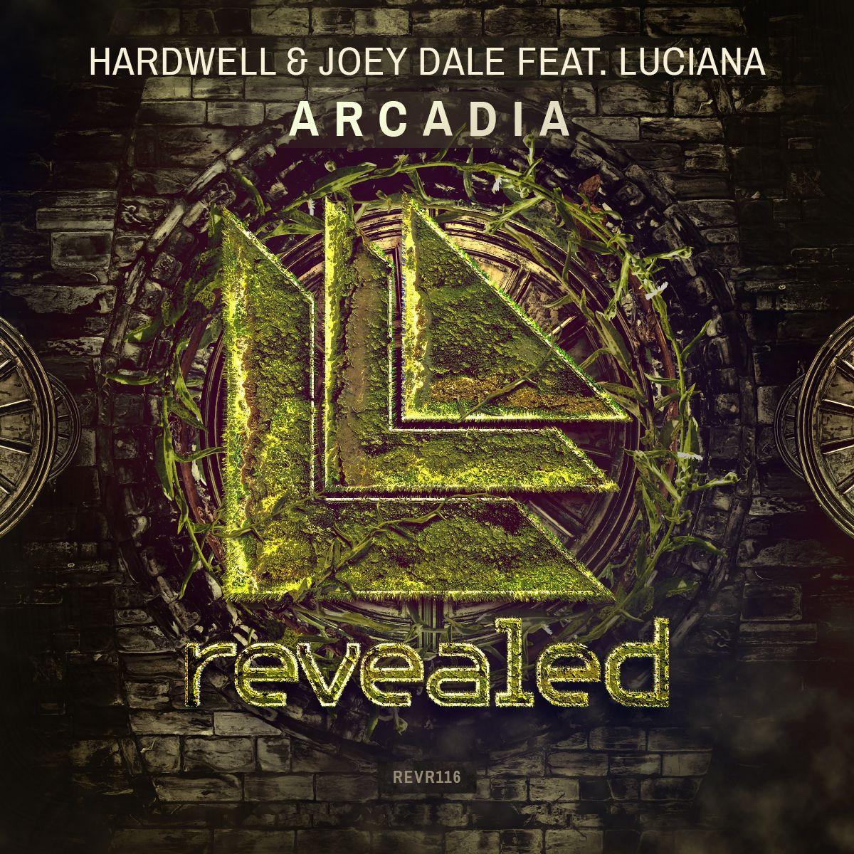Hardwell, Joey Dale, Luciana – Arcadia (single cover art)