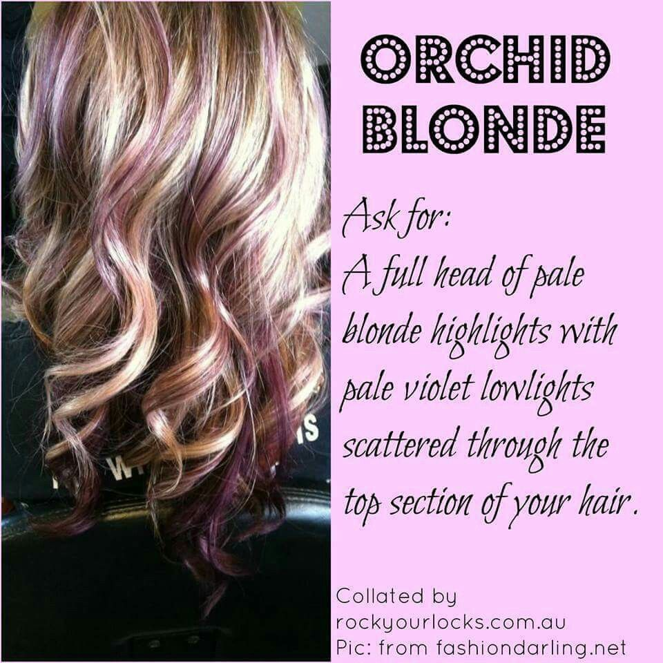 Blonde highlightspale violet lowlights scattered fall hair color