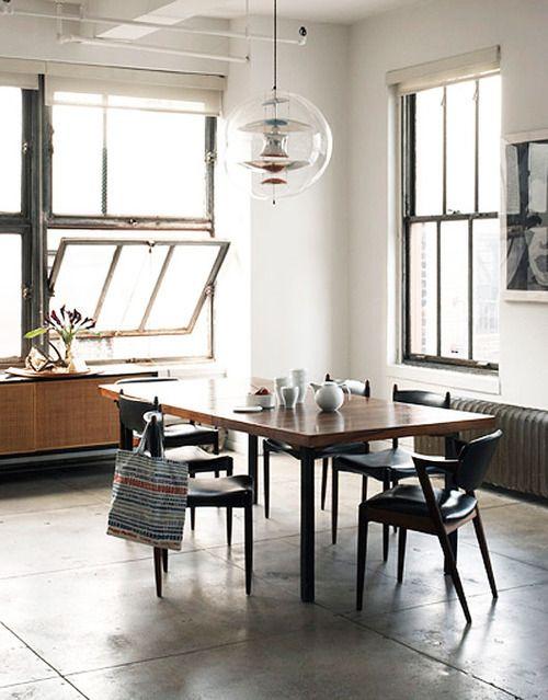 Interior design | loft | dining | midcentury