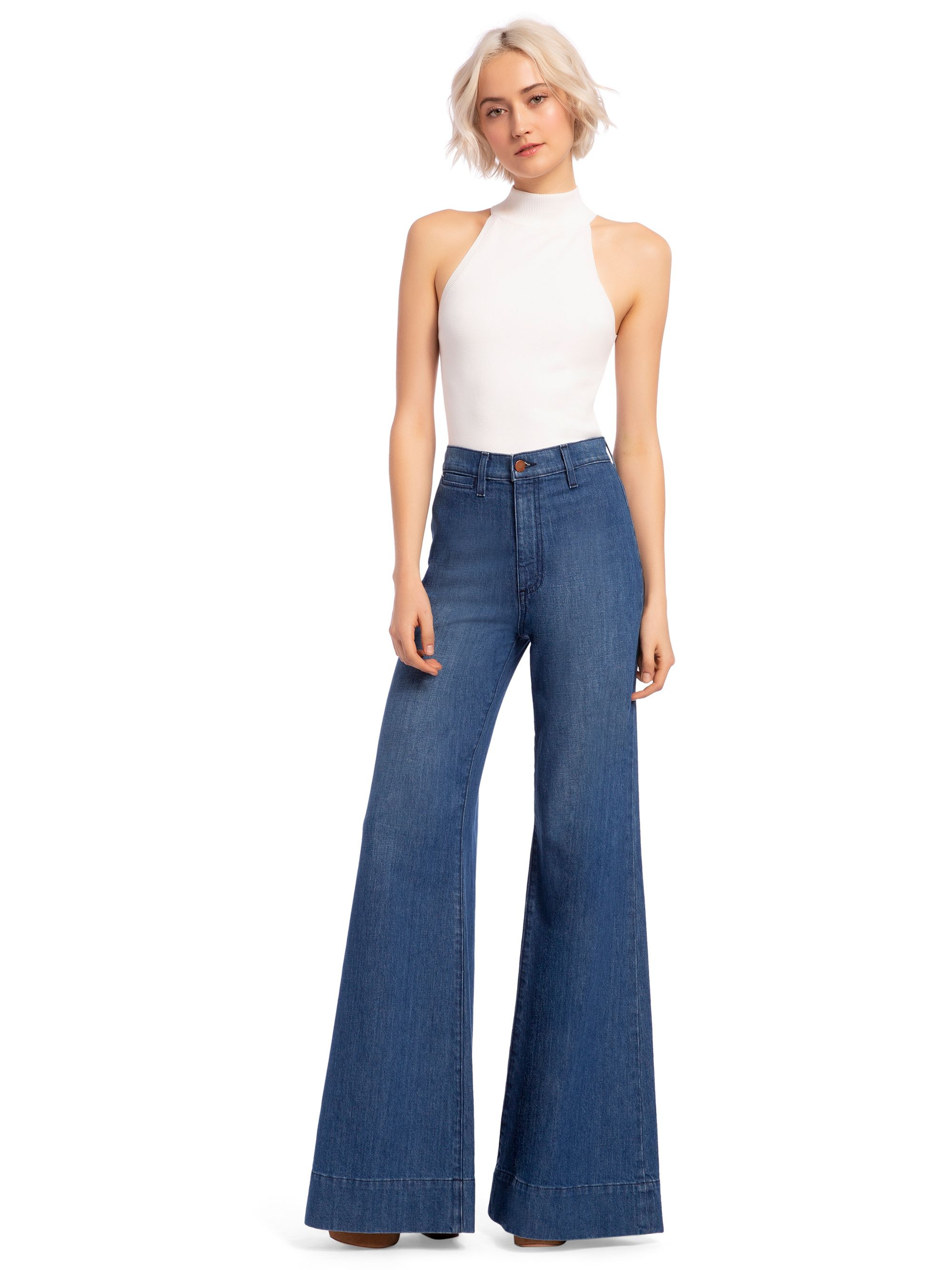 The Cheapest Price 2019 New Fashion Women Lace Bell Bottoms Flare Hot Sale Pants Mid Waisted Wide Leg Long Pants Quality And Quantity Assured Pants & Capris Bottoms