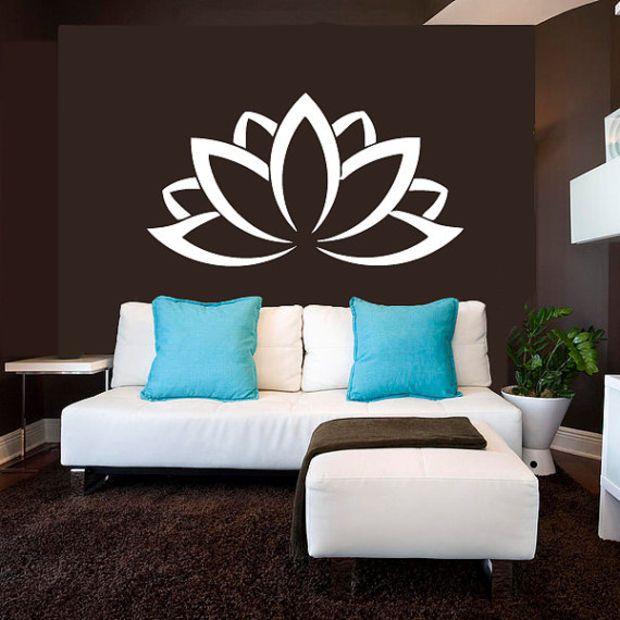Wall Decal Vinyl Sticker Decals Art Decor Design Lotos Sign Yoga - Zen wall decalsvinyl wall decal yin yang yoga zen meditation bedroom decor