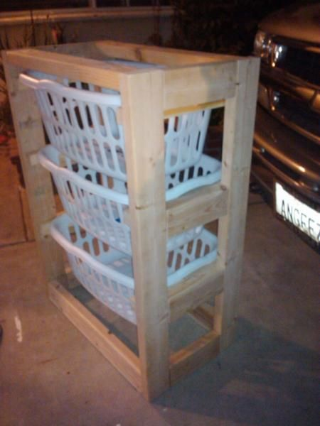 Build A Laundry Basket Dresser With 2x4s Or It Could Be Great If