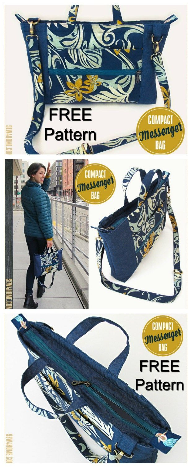 Free bag sewing patterns Archives - Sew Modern Bags #zippertop