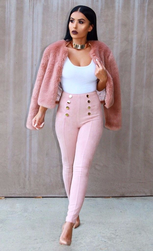 ceceb1f643f660 Elegant long sleeve slim faux fluffy fur slim jacket. Perfect for date  nights or girl s night out in the spring time. Details Faux Fur Knitted  Imported ...