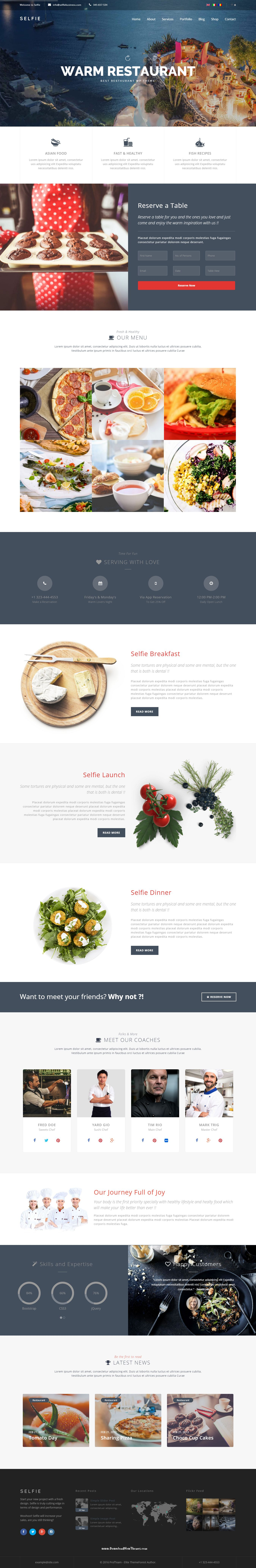 Selfie is a multi one page wordpress theme that