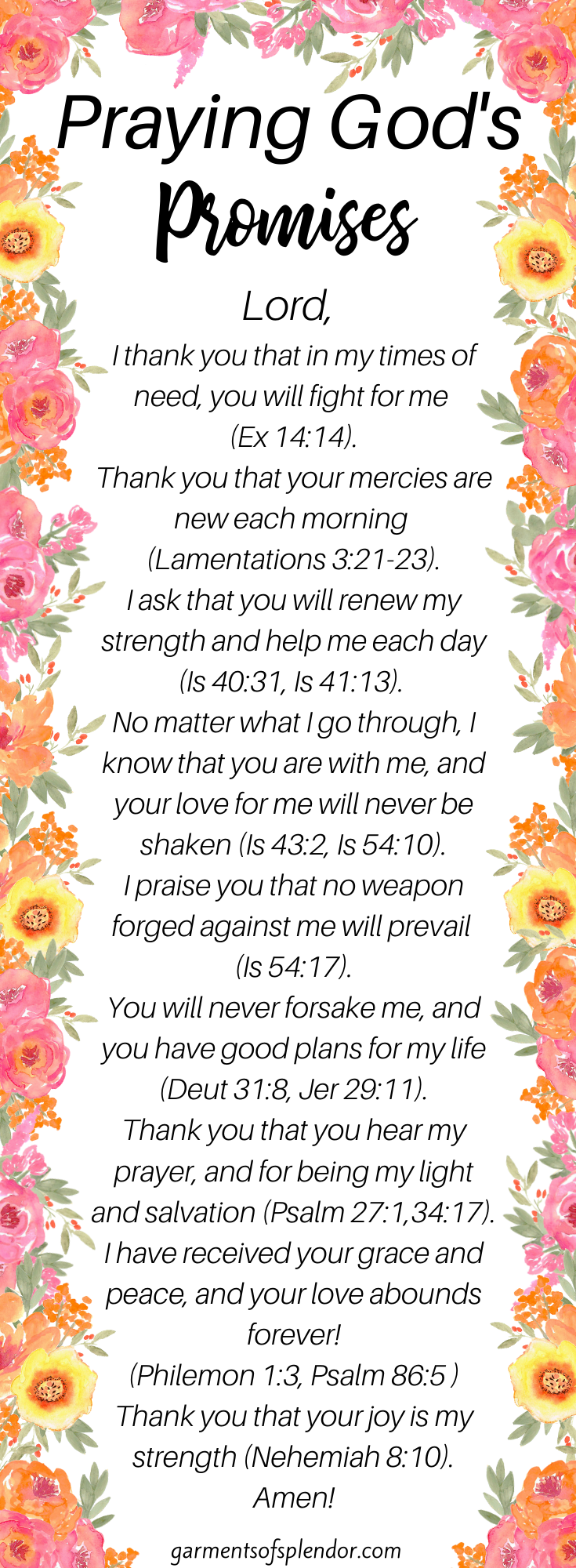 Praying God's Promises with Power (with FREE Printable) -