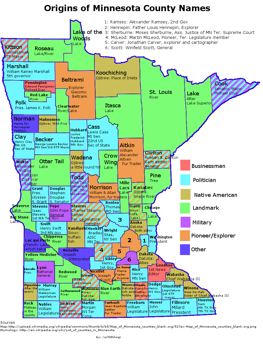Minnesota Map Png.Etymology Of Minnesota County Names Maps Minnesota Map Twin Cities