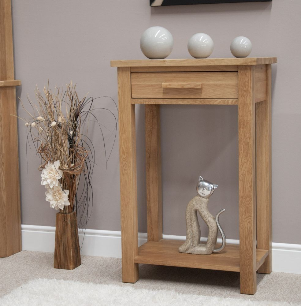 Homestyle Gb Opus Oak Small Console Table In 2020 Small Console