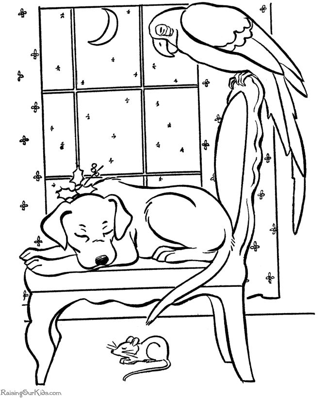 Sleeping puppy   coloring pages   Pinterest   Sleeping puppies