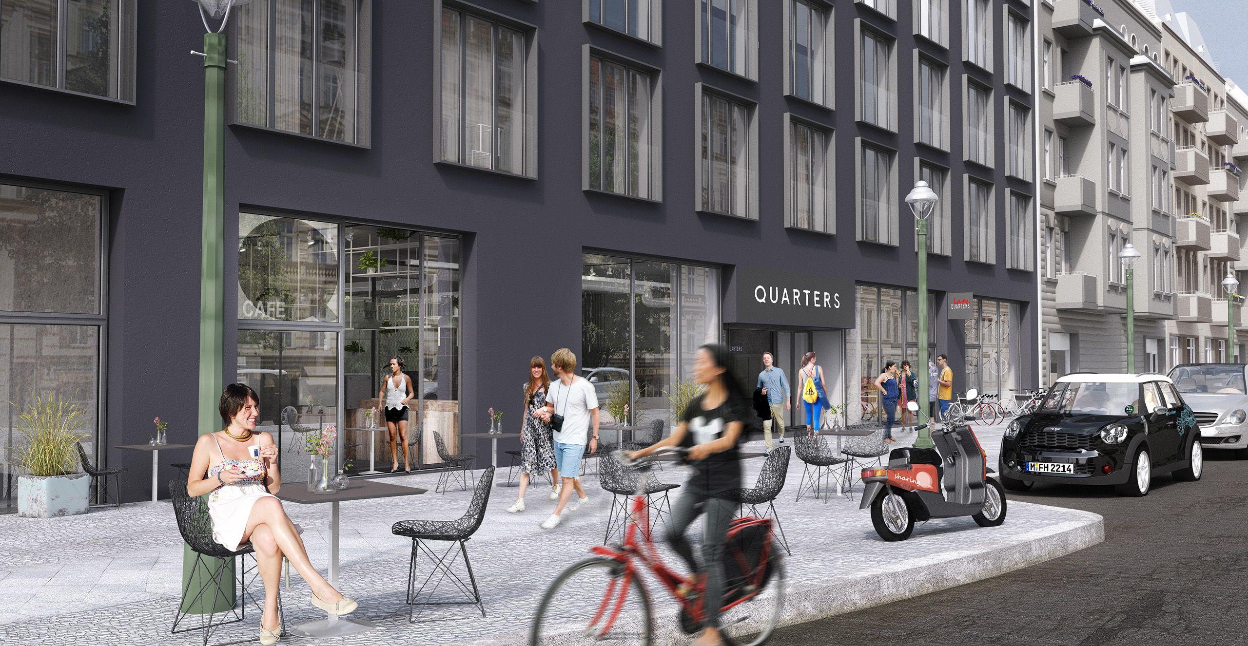 Architekturvisualisierung Berlin berlin mitte city quaters shared living render manufaktur