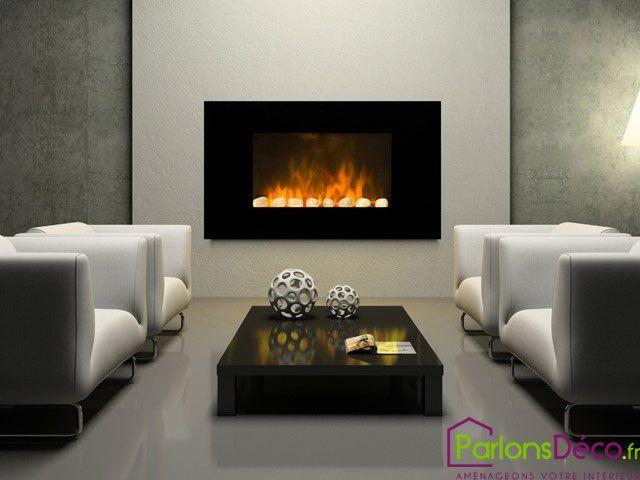 Cheminee Electrique Decorative Design Black Screen Sur Parlonsdeco