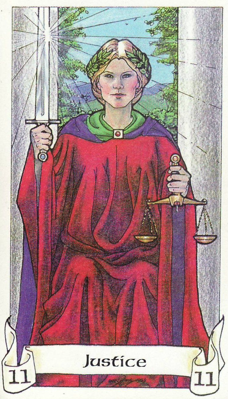 Image result for Robin Wood tarot justice