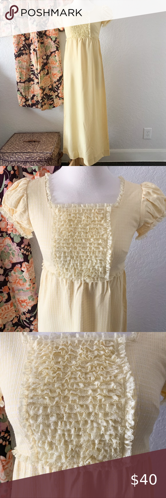 Vintage Ruffle Dress Ruffle Dress Vintage Dresses Dresses [ 1740 x 580 Pixel ]