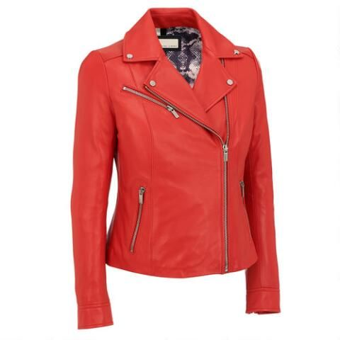25abe368235a8 Plus Size Wilsons Leather Polished Classic Leather Cycle Jacket - View All Plus  Size - Women s   Plus Size - Wilsons Leather