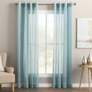Wayfair Basics Wayfair Basics Solid Sheer Grommet Single Curtain