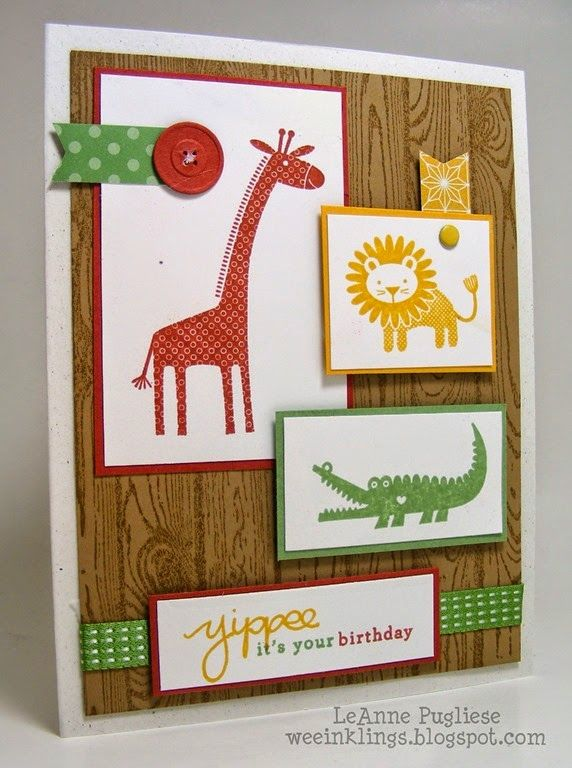 Leanne20pugliese20weeinklings20colour20me21202220stampin su zoo babies good for baby card bookmarktalkfo Images