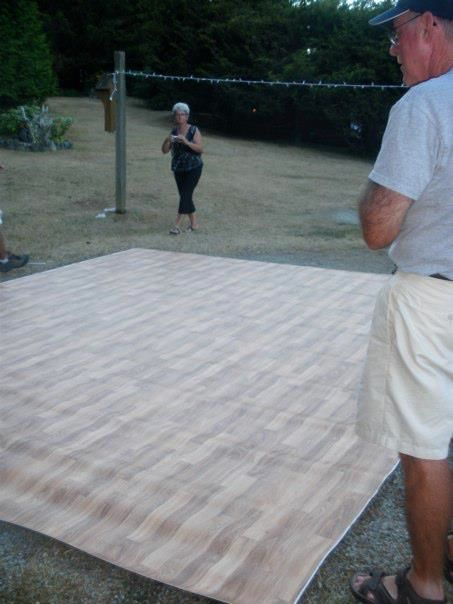 After Building That Plywood And 2x4 Dance Floor Throw
