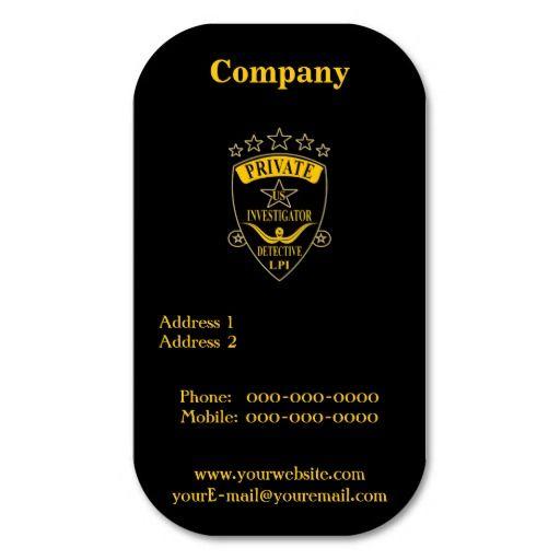 Private investigator business cards top business cards pinterest private investigator business cards colourmoves