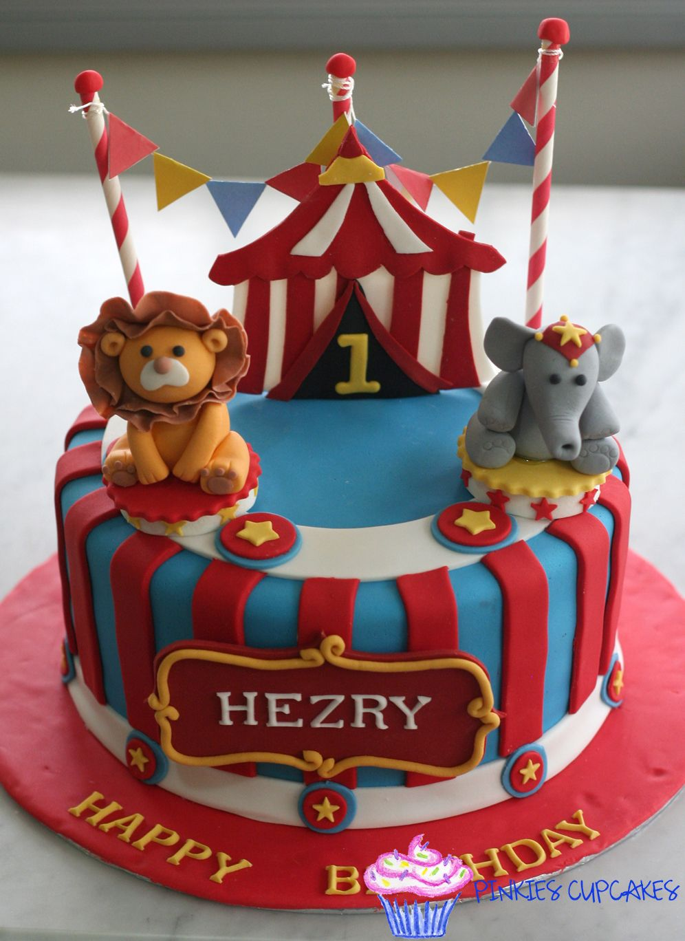 Circus Cake Cakes Pinterest Birthday Circus Cakes And 1st